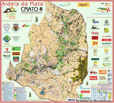 Orienteering Map Aldeia Da Mata Crato World Of O Maps - Crato map